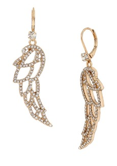 BETSEY JOHNSON Heaven Sent Pave Wing Drop Earrings