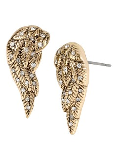 BETSEY JOHNSON Heaven Sent Wing Stud Earrings