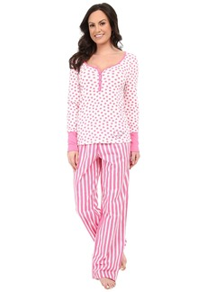 Betsey Johnson Henley and Pants Set