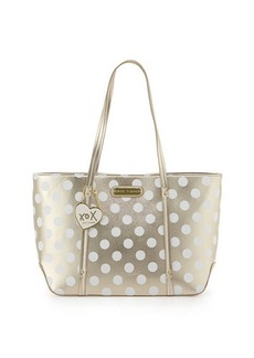 Betsey Johnson Hocus Polkas Faux-Leather Tote Bag
