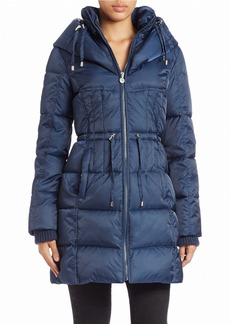 BETSEY JOHNSON Hooded Quilted Down Coat