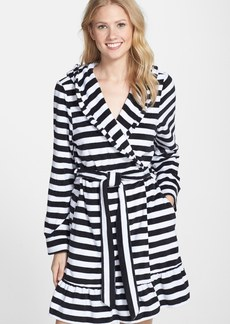 Betsey Johnson Hooded Stripe Terry Robe