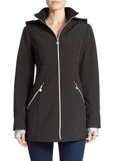 BETSEY JOHNSON Hooded Zip-Front Coat
