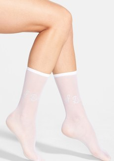 Betsey Johnson 'I Do' Sheer Socks