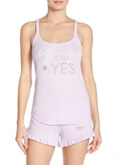Betsey Johnson Bridal Embellished Camisole Pajamas