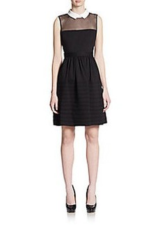 Betsey Johnson Illusion Collar Dress