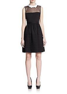 Betsey Johnson Illusion Collar Dress