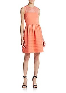 Betsey Johnson Illusion Fit-&-Flare Dress