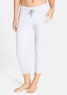 Betsey Johnson Iridescent Trim Crop Sweatpants