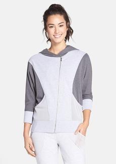 Betsey Johnson Iridescent Trim Zip Front Jacket