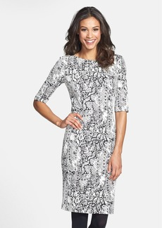 Betsey Johnson Jacquard Knit Sheath Dress