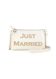 "Betsey Johnson ""Just Married"" Light-Up Crossbody Bag"