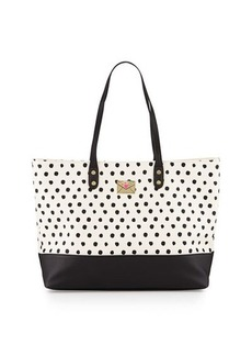 Betsey Johnson Kiss Polka-Dot Faux-Leather Tote Bag