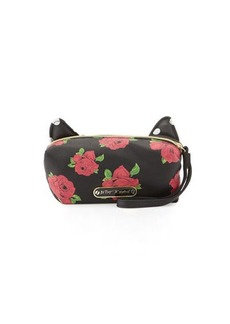 Betsey Johnson Kitchi Cat Rose Cosmetic Bag
