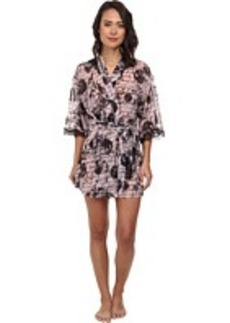 Betsey Johnson Knit Chiffon Robe