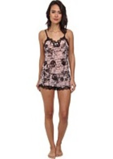 Betsey Johnson Knit Chiffon Teddy
