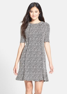 Betsey Johnson Knit Jacquard Tulip Hem Dress