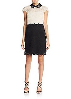 Betsey Johnson Lace Blocked Dress