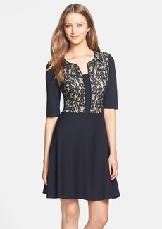 Betsey Johnson Lace Bodice Fit & Flare Dress