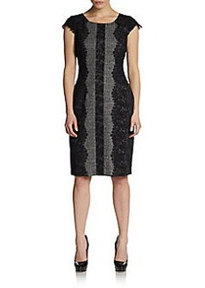 Betsey Johnson Lace-Edge Tweed Sheath Dress