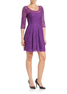 BETSEY JOHNSON Lace Fit-and-Flare Dress