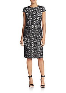 Betsey Johnson Lace Fitted Sheath Dress
