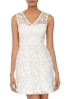 Betsey Johnson Lace-Front Sleeveless Dress