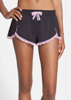 Betsey Johnson Lace Hem Woven Shorts
