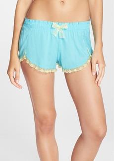 Betsey Johnson Lace Hem Woven Shorts