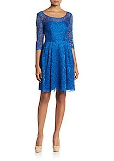 Betsey Johnson Lace Illusion-Yoke Dress