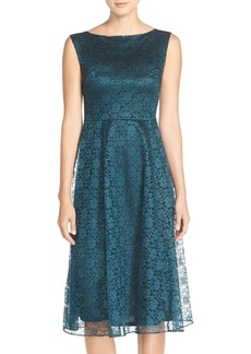 Betsey Johnson Lace Midi Fit & Flare Dress