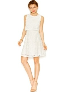 Betsey Johnson Lace Popover A-Line Dress