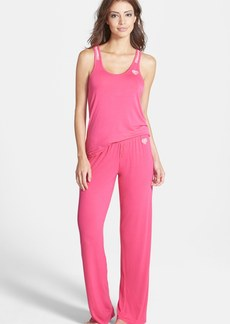 Betsey Johnson Lace Racerback Jersey Pajamas