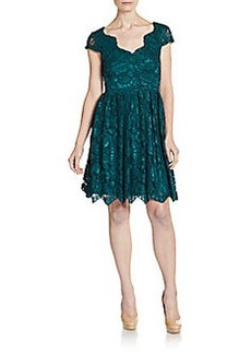 Betsey Johnson Lace Scalloped A-Line Dress