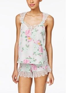 Betsey Johnson Lace-Trim Tank and Shorts Set 7311113