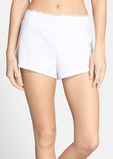 Betsey Johnson Lace Trim Terry Shorts