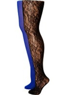 Betsey Johnson Laced Out Lace Printed Tight