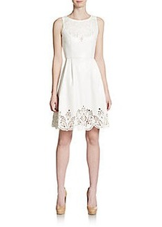 Betsey Johnson Lasercut Faux Leather Dress