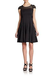 Betsey Johnson Lattice Illusion Dress