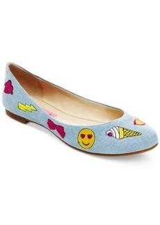 Betsey Johnson Leoniee Emoji Flats Women's Shoes