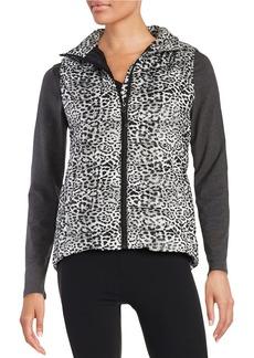 BETSEY JOHNSON Leopard Print Puffer Vest