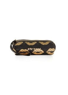 Betsey Johnson Lips Metallic Cosmetic Bag