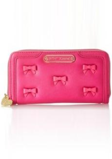 Betsey Johnson Little Bow Chic Zip Around Wallet