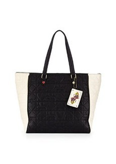 Betsey Johnson Lucky Quilted PVC Tote Bag, Black