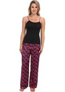 Betsey Johnson Luscious Knit & Satin Pajama Set 739806
