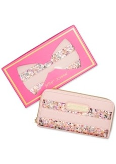 Betsey Johnson Macy's Exclusive Boxed Sequin Zip Around Wallet