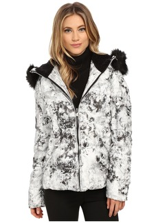 "Betsey Johnson ""Marble"" Printed Puffer"