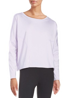 BETSEY JOHNSON Mesh-Accented Active Top
