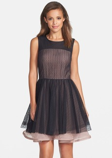 Betsey Johnson Mesh Fit & Flare Dress