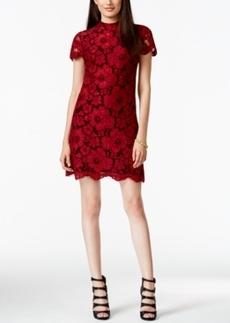 Betsey Johnson Mock-Neck Lace Shift Dress